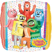18 inch Yo Gabba Gabba! Square Shaped foil balloon