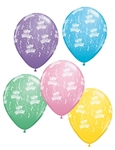 11 inch Qualatex Round Happy BIRTHDAY-A-Round Pastel Assortment