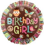 18 inch Hippy Chick Happy Birthday