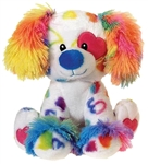 9 1/2 inch Sitting Rainbow Dog