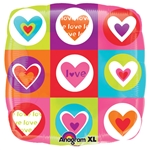 18in Hearts & Squares Balloon