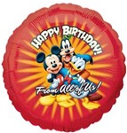 18 inch Disney Mickey Mouse Happy Birthday From All of Us