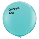 3 foot Qualatex CARIBBEAN BLUE