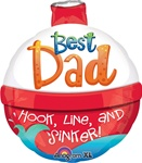 22 inch Best Dad Bobber Shape foil balloon