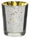 Prefilled Mercury Votive  Candle Holder with Candle SILVER / GOLD