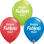 11 inch Qualatex Happy Father's Day Assortment