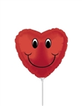 4 inch Smiley Face Red Heart