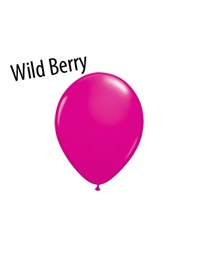 5 inch Fashion Wild Berry latex balloons