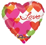 32 inch Colorful Love Hearts balloon