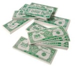 6in Bulk Play Money $1.00 Bill