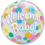 22 inch BUBBLES Welcome BABY Colorful Dots