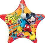 18 inch Mickey Rock Star Star shaped Balloon
