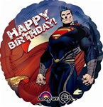 Superman Man of Steel Birthday Balloon