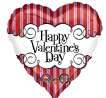 28 inch Happy Valentine's Day Candy Striped
