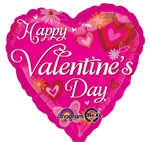 28 inch Happy Valentine's Day Hearts & Butterflies