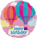 18 inch Happy Birthday Hot Air Balloon