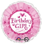 18 inch Birthday Girl Pink Sparkle Tutu