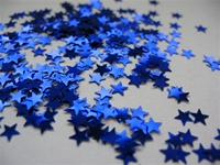 4 oz Star Glitter BLUE