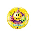 9 inch Happy Birthday Smiley Face Party