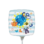 9 inch Es Nino Baby Clothes foil balloon