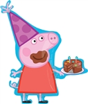 PEPPA PIG with Birthday Cake Balloon