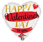 18 inch Happy Valentine's Day Candy Striped