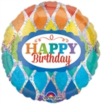 18 inch Happy Birthday Rainbow Balloon