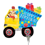 14 inch Birthday Dog and Dump Truck Mini Shape
