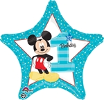 18 inch Disney Mickey 1st Birthday Boy Foil Balloon