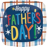 18 inch Happy Father's Day Plaid