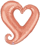 Chain of Hearts Rose Gold Balloon