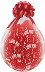 18in  I LOVE YOU-A-Round DIAMOND CLEAR Stuffing Balloon