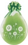 FLOWER Garden-A-Round DIAMOND CLEAR Stuffing Balloon