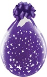 18 inch Qualatex Round STARS-A-Round DIAMOND CLEAR Stuffing Balloon