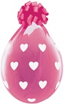 18 inch Qualatex Big Hearts DIAMOND CLEAR Stuffing Balloon