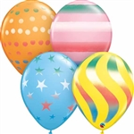 16 inch Sandard Color Qualatex Balloons with Spray Designs