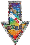 29 inch Party Here Diploma Arrow Shape Foil Balloon