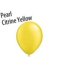5 inch Radiant Pearl Citrine Yellow latex balloons