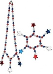 Red, White, and Blue Star Necklace and Bracelet