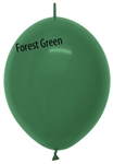 12in Link-O-Loon Crystal FOREST GREEN