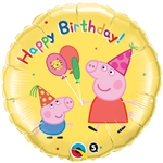 18 inch Peppa Pig Happy Birthday