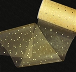 Sequin Roll - Gold Tulle with Gold Polka Dots