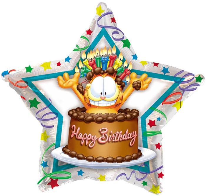 Garfield Birthday Cake Foil Balloon