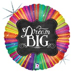 18 inch Chalkboard Dream Big Foil Balloon
