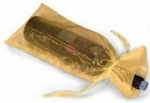GOLD Sheer Organza Bottle Bag with Satin Draw Cord
