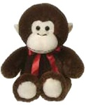 15 inch Cuddle Monkey with Red Ribbon