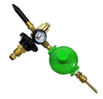 Basic Regulator Hand-tight with Gauge & Tilt Valve