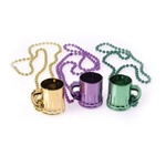 Mardi Gras Beads with Mug