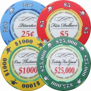 Cigar & Snifter Poker Chip Sample