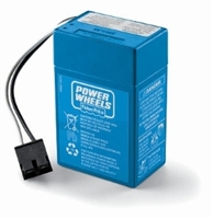 Power Wheels 6 Volt 4AH (Blue) Battery - 00801-1457